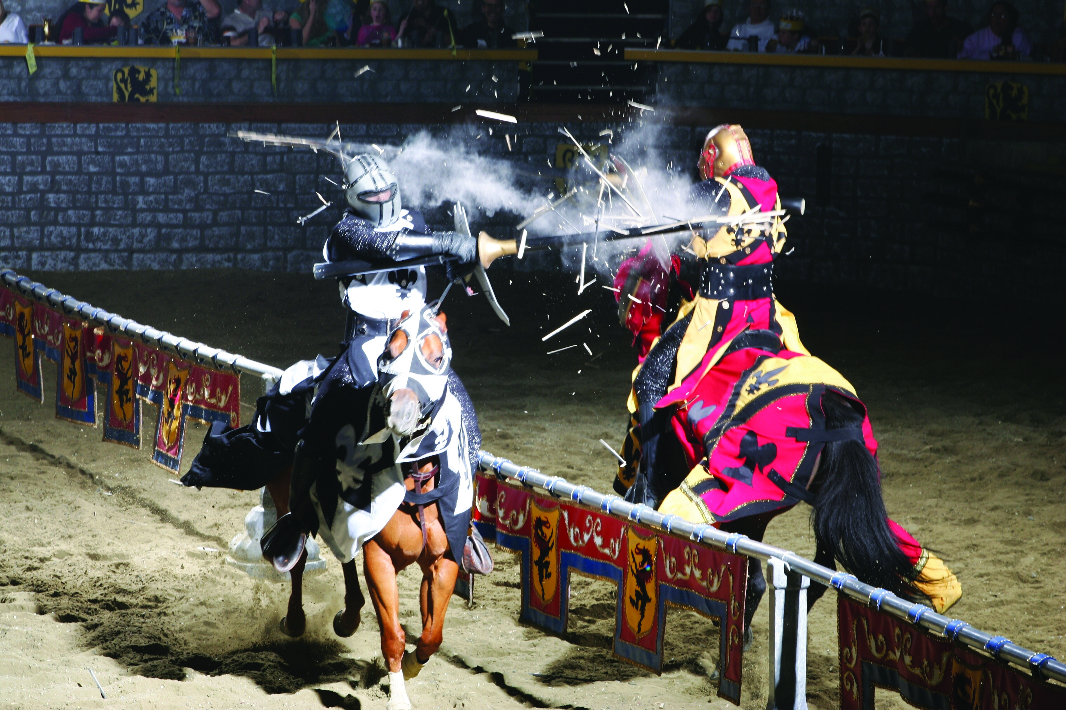 Medieval Times is a dinner theaters, dedicated to giving visitors a colorful and high decibel dose of entertainment King Arthur style.